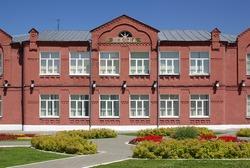 Old school in Kolomna, Russia