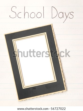 old school photo frame on practice paper - great for scrapbook pages