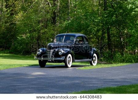 old school vintage car