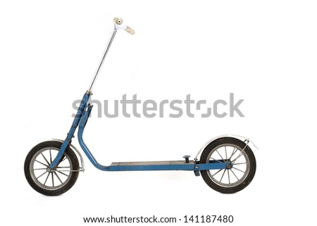 old scooter isolated on the white background