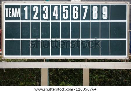 Old Score Board