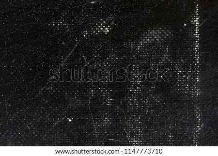 Old, scratched, grunge texture. White scratches on black background #1147773710