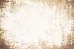 OLD SCRATCHED NEWSPAPER PAPER BACKGROUND, BROWN GRUNGE PATTERN WITH WHITE SPACE FOR TEXT, DIRTY WALLPAPER DESIGN