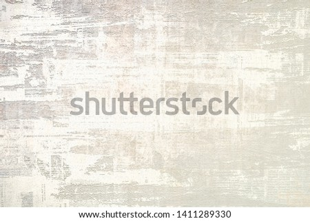OLD SCRATCHED PAPER BACKGROUND, GRUNGE NEWSPAPER TEXTURE, SCRATCHES PATTERN  #1411289330
