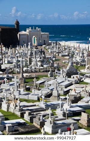Old seaside graveyard, San Juan, Puerto Rico