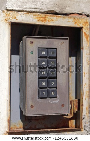 Old security keypad for pin code entrance #1245151630