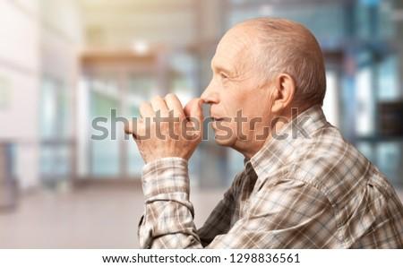 Old senior man praing