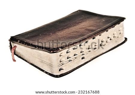 Old sepia antique retro vintage book Bible Scriptures Christian beliefs faith