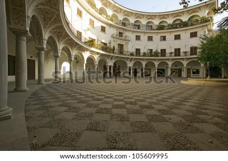 Old Sevillan Courtyard, Sevilla, Andalucia, Southern Spain
