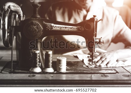 Old sewing machine #695527702