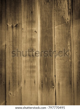 Old shabby planks of wooden wall