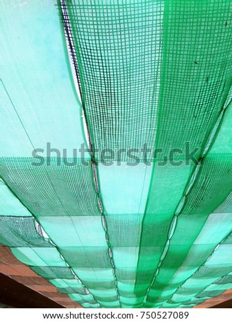 old shading net under sun light,  #750527089