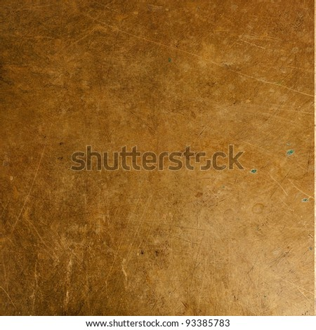 Old sheet bronze as background