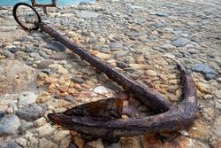 Old ship anchor