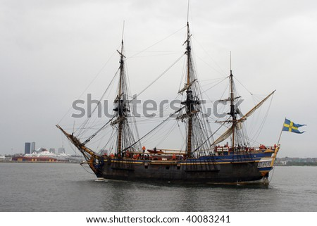 Old ship in Tallinn harbor