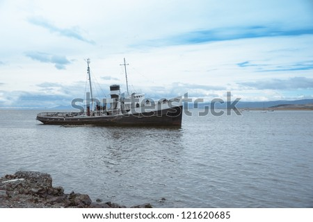 Old ship in Ushuaia