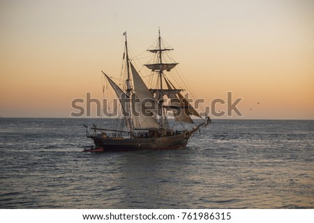 old ship sailing #761986315