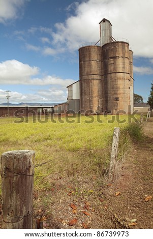 old silo to store corn or wheat farmhouse at countryside,barn or farmhouse