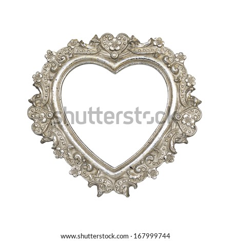 Free photos Silver heart frame on metal background | Avopix.com