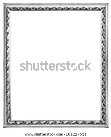 Old silver wooden frame for mirrors and tapestries