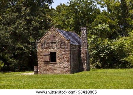 old slave huts in an old  South Carolina farm