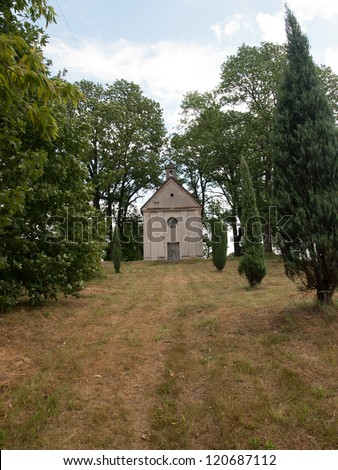 Old small Church of  St. Anne  in Studzianna,Poland