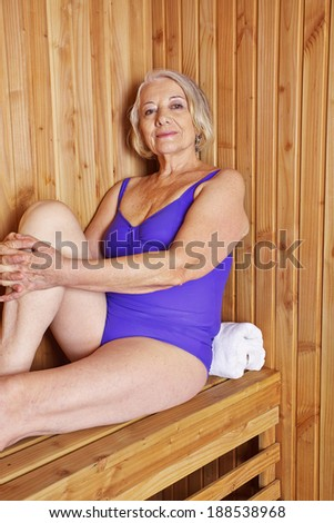 In mature sauna