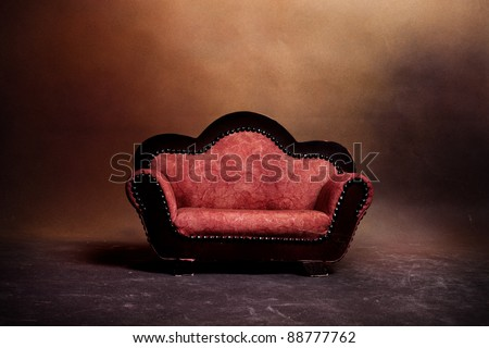 old sofa in empty room