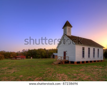 old southern baptist chapel in an historic village