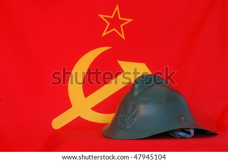 Old Soviet firemen helmet of 1950-th