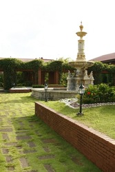 Old Spanish Colonial Courtyard in the Philippines