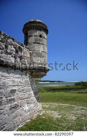 Old Spanish Watchtower at Fort Matanzas National Monument, St. Augustine, Florida
