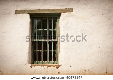 Old Spanish Window and Wall Abstract Image.