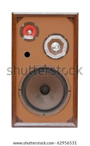 old speaker isolated