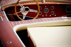 old speed boat - interior details