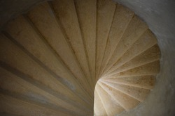 old spiral staircase, inside architecture stairway, elegant building