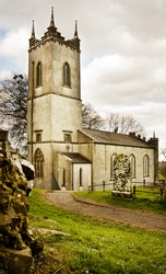 Old St Patrick Church on the historic Hill of Tara (Teamhair Na Ri) in Ireland
