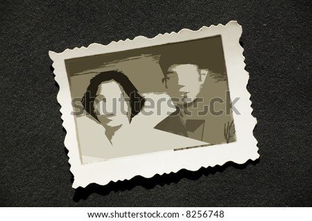 old stained photos, you can use the photo frame and put your photo in.