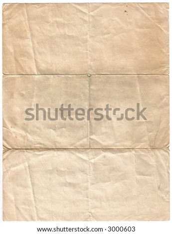 Old Stained Sheet of Blank Paper