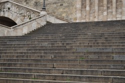 old stair,old medieval stairs