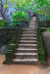 Old stairs in Sigiriya Castle, SriLanka