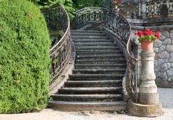 Old stairway of a palace