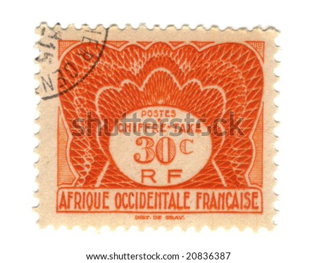 Old stamp from French West Africa