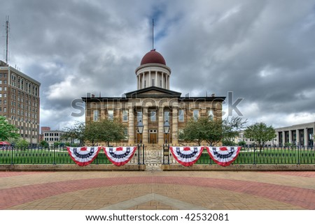 Old State Capitol building in Springfield, Illinois