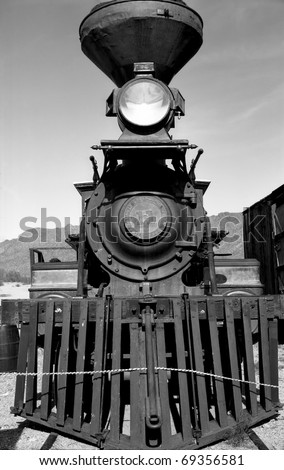 Old steam engine in Old Tucson Arizona January 2, 2011