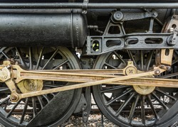 Old Steam Japanese Locomotive Driving Wheels.