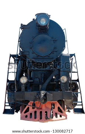 Old steam locomotive, a close up