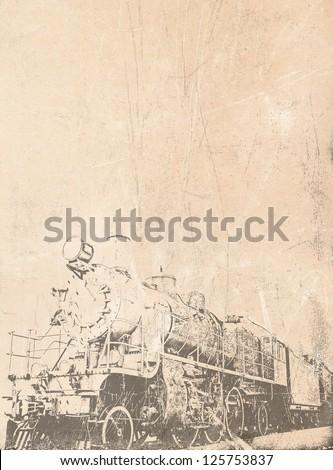 old steam train vintage...