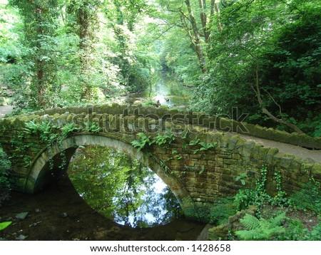 Old Stone Bridge in Summer Jesmond Dene