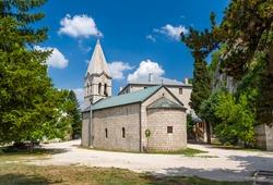 Old stone chapel, part of Ostrog monastery complex. Niksic, Montenegro